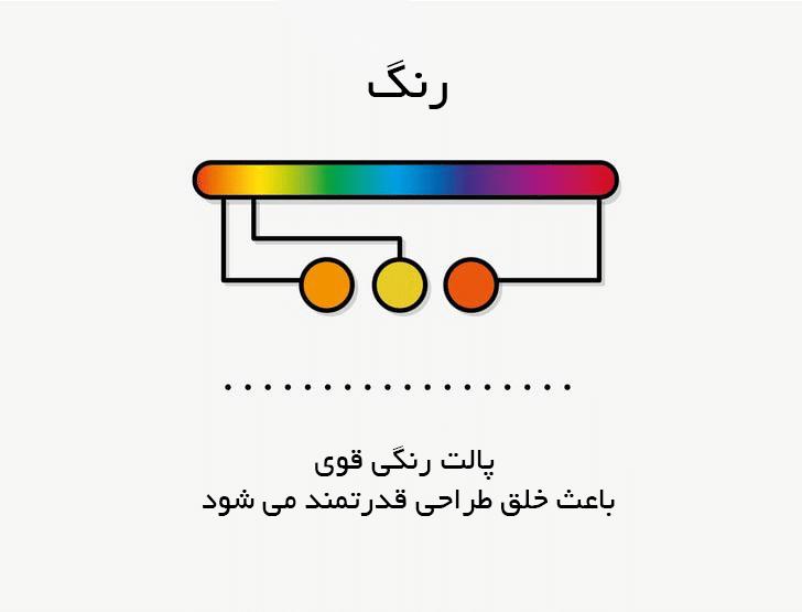 عناصر گرافیک رنگ