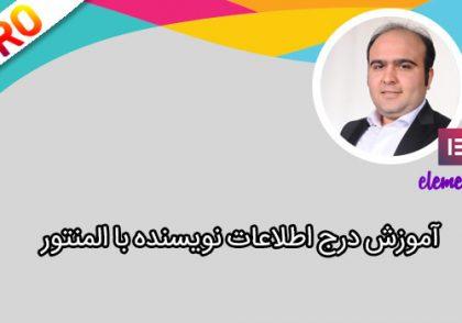 درج اطلاعات نویسنده با المنتور