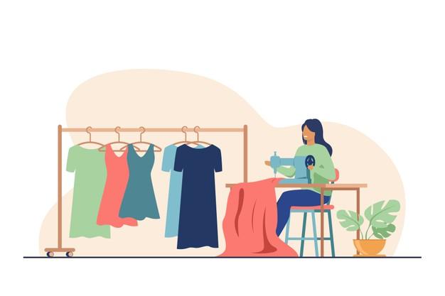 با این 5 روش یک طراح لباس میتواند در خانه کسب درآمد کند
