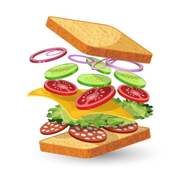 خوش طعم کردن یک ساندویچ